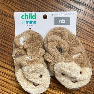 Carters Newborn Monkey Slippers